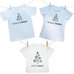 Rodinná sada (tričko s krátkým rukávem) Veselé Vánoce