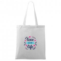 Bílá taška Love of my life