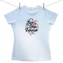 Dámské triko s krátkým rukávem Love you forever