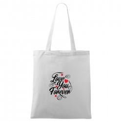 Bílá taška Love you forever