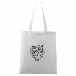 Bílá taška All you need is love