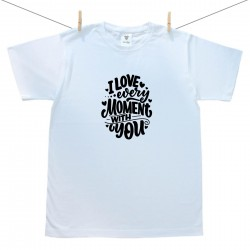Pánské triko s krátkým rukávem i love every moment with you