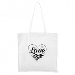 Bílá Maxi taška Love