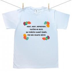 Pánské triko s krátkým rukávem Hody, hody, doprovody