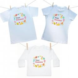 Rodinná sada (tričko s dlouhým rukávem) Veselé Velikonoce