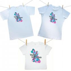 Rodinná sada (tričko s krátkým rukávem) Veselé Velikonoce