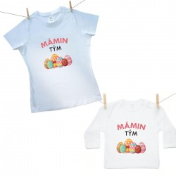 Rodinná sada (tričko s dlouhým rukávem) Mámin tým