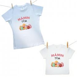 Rodinná sada (tričko s krátkým rukávem) Mámin tým